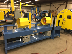new 125mm Interlock machine and Dual eccentric taping machine