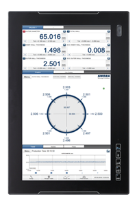 Basic visualization at the ECOCONTROL 6000 with eight measuring values