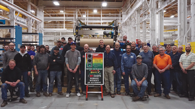Davis-Standard's N.Y. Facility Celebrates 365 Days Injury-Free