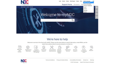 "NDC Technologies Adds Language Support to its Cloud-Based Customer Support Portal ""myNDC"""